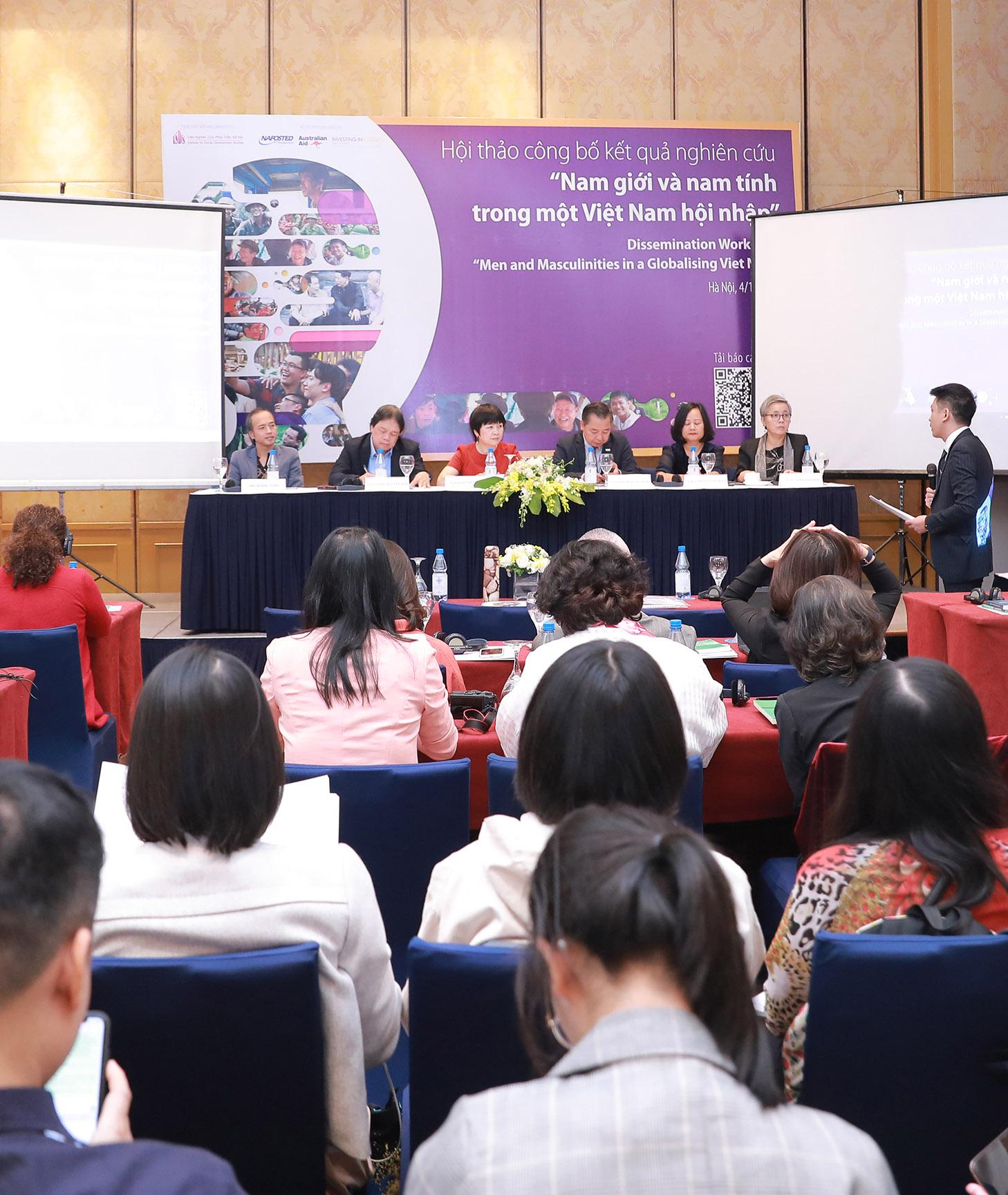 """Hội thảo công bố kết quả nghiên cứu """"Nam giới và nam tính trong một Việt Nam hội nhập"""""""